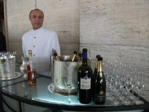 """Sirio e o Espumante """"Corte"""" elaborado com Chardonnay, Trebbiano e Pecorino"""